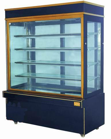 Sliding Double Doors Cake Display Freezer Cabinets 2 Meters T5 LED Light