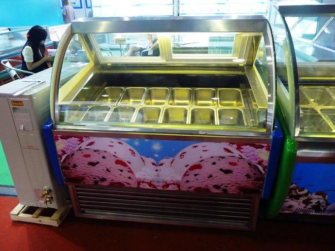 Supermarket Small Ice Cream Display Freezer With Environmental Protection