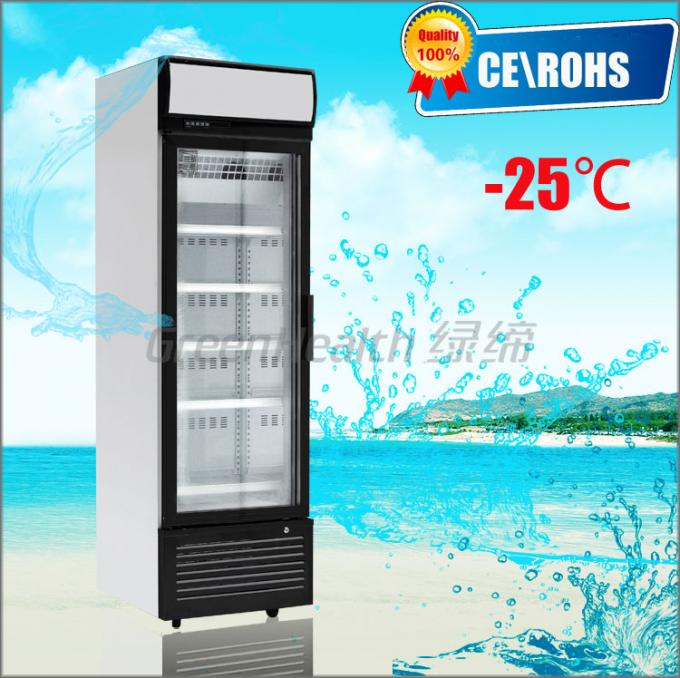 One Door Small Glass Door Freezer -25 Degree Dynamic Cooling Eco Friendly