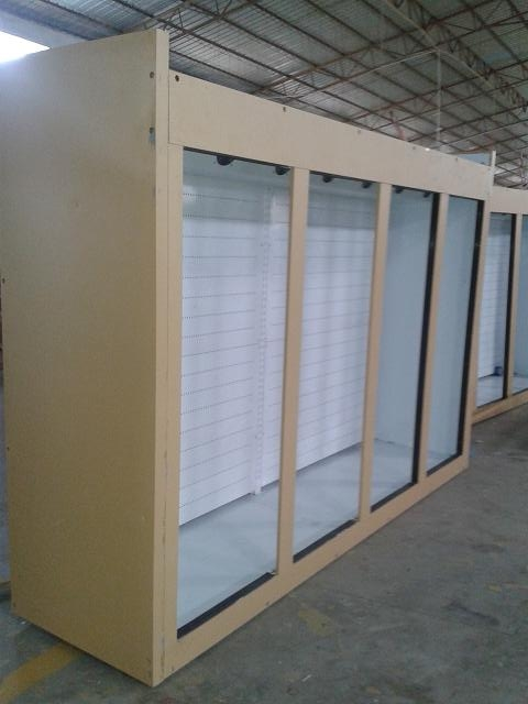 Grocery 0 - 10°C Glass Door Freezers Frost Free With Copeland Compressor