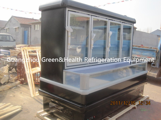 Multideck Upright Combination Freezer With Sliding / Solid Door