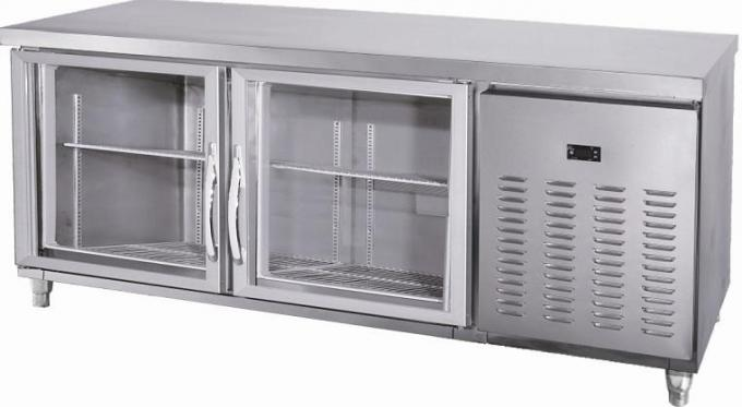 Large Under Counter Freezer With Front Glass Door / Smaller Fender