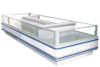 Customize Supermarket  Island Freezer For Frozen Food Top Open Freezer