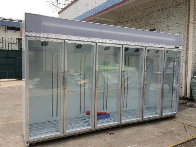 Free Standing Glass Door Refrigerator Showcase Cold Storage Chamber