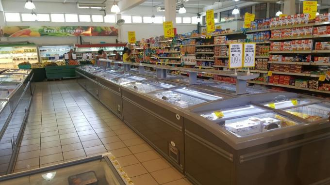 1.85m Free Defrost Supermarket Display Freezer For Meat Storage 1 Year Warranty
