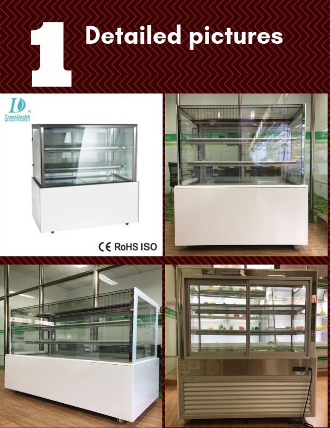 Japanese Bakery Display Glass Door Cabinet With Imported Compressor