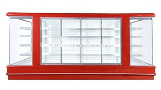 China Low Noise Store Vegetable Multideck Open Chiller With Glass Door Easy Moving Wheel supplier