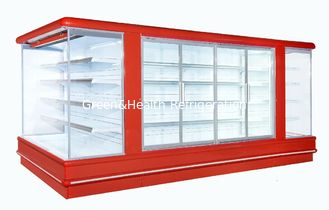 China Upright Display Freezer Open Deck Chillers Danfoss 4450*2370*2060 supplier
