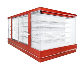 China Square Island Open Display Refrigerator With Streaming Design / Multideck Display Fridge supplier