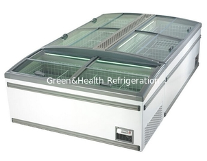 China Green & Health Supermarket Island Freezer With Sliding Glass Door For Frozen Food supplier