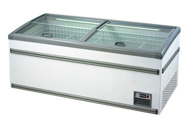 China -22°C - 18°C Supermarket Seafood Display Island Freezer With Glass Door Energy - Saving supplier