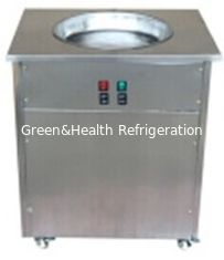 China Green And Health Fried Ice Cream Maker Machine With Single Pot 6 Pans supplier