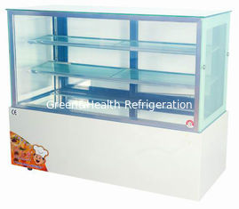 China 1.5 meter Vertical Chiller 660W , Cake Display Freezer 3 Shelf With Tough Glass supplier