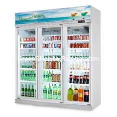 China Glass Door Display Refrigerator Showcase with Digital Temperature Controller supplier