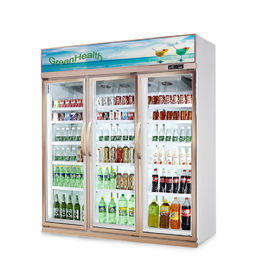 China Store Glass Door Freezer 5 Layer And Adjustable Shelf 1630 * 600 * 2120 supplier