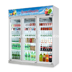 China Flowers Drinks Commercial Beverage Cooler Display showcase With Double Doors supplier