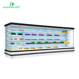 China 4 Layers Multideck Open Chiller With Temperd Glass Or Painted Steel Shelves supplier