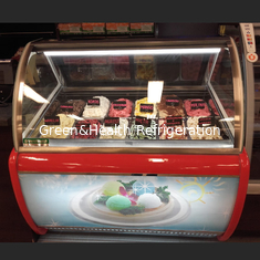 China Commercial Gelato Hard Ice Cream Display Freezer Showcase With 16 Pans supplier