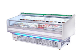 Commercial Open Fresh Meat Display Refrigeratior Showcase With Auto Defrost