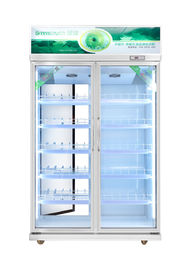 China Two Door Vertical Commercial Beverage Cooler With Fan Cooling / 5 Shelves supplier