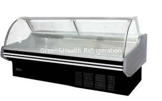 China Commercial Serve Over Counter Deli Display Refrigerator / Cold Food Fresh Meat Display Freezer Showcase supplier