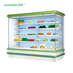 China Commercial Supermarket Outdoor Multideck Open Chiller / Fruit And Veg Display Fridge supplier