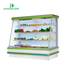 Fruit Store No Frost Open Style Multideck Display Cooler With 4 Layers