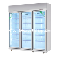 China Vertical Glass Door Display Freezer With Dynamic Cooling / Refrigerated Meat Display Showcase supplier