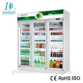 China 1220L Capacity -18~22℃ Upright Glass Door Freezer / Seafood Display Cooler supplier