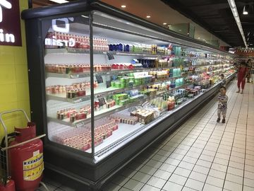 China Customized Supermarket Open Deck Display Fridge With Remote Condensering Units supplier