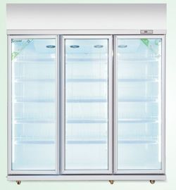 China Automatic Defrost Commercial Glass Door Beverage Cooler For Supermarket With Heater supplier