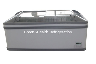 China Combined Meat Island Display Freezer With Tempered Glass For Supermarket supplier