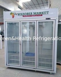 Auto Defrost Commercial Double Door Upright Display Freezer For Meat