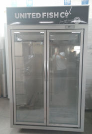 1220L Capacity -18~22℃ Upright Glass Door Freezer / Seafood Display Cooler