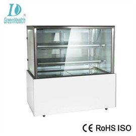 China Curved Glass Refrigerated Bakery Display Showcase With 2 / 3 Layers supplier