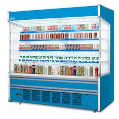 China Commercial Self Service Multideck Open Chiller With 4 Layer Decks R404a Refrigerant supplier
