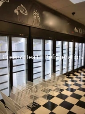 China Commercial Vertical Display Freezer With Low Temperature For Meat Seafood supplier
