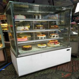 China Pastry Dessert Cake Display Chiller With Back Sliding Door Air Cooling System supplier
