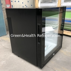 China Black Or White Hotel Mini Bar Fridge With Table Top Glass Door / Adjustable Shelves supplier