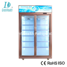 China Automatic Defrost Commercial Beverage Cooler / Walk In Fridge Freezer With Glass Door supplier