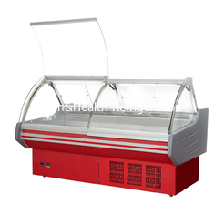 China Liftable Glass Door Deli Display Refrigerator /  Red Or White Color Meat Display Chiller supplier
