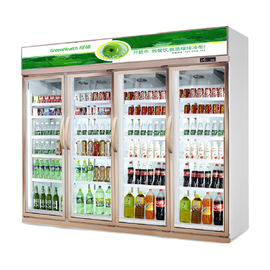 China Energy Saving Four Doors Upright Commercial Beverage Cooler For Convenient Store supplier