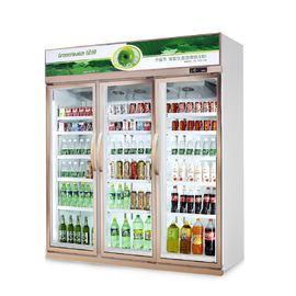 China Vertical Upright Commercial Beverage Cooler For Flower Meat With Glass Door supplier