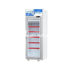 Silver / Champagne Color Glass Door Freezer With 5 Layers Shelves 500L