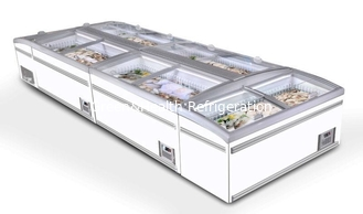 China Supermarket Sliding Glass Door Island Freezer With Large Space 1.2m 1.85m 2.5m Length supplier