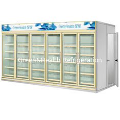 China Multi Deck Dairy Glass Door Freezer Electric 50mm Thick For Kitchen supplier