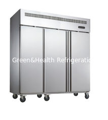 China Commercial Silver Upright Freezer -18°C - 10°C With Easy Moving Wheels supplier
