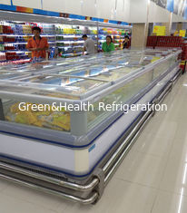 China Self - Contained Supermarket Island Freezer -18°C Stainless Steel supplier