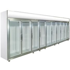 Glass Door Compact Refrigerator 0 - 10 Degree Dynamic Cooling For Shop