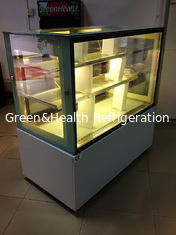 China Sliding Double Doors Cake Display Cabinets Freezer 2 Meters With Marble Tabletop supplier